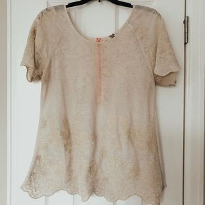 BKE embroidered top